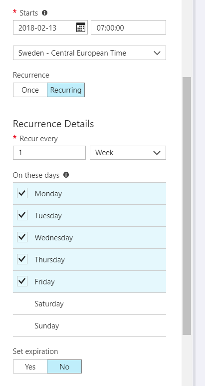 Azure VMs – Start/Stop during off-hours solution – Andreas